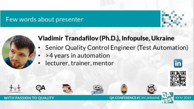 QA Fest 2019. Владимир Трандафилов. GUI automation of WEB application with SVG-graphics Slide 2