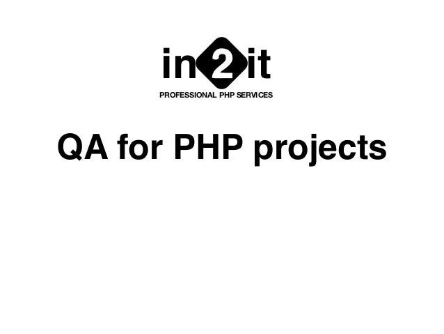 QA for PHP projects in it2PROFESSIONAL PHP SERVICES