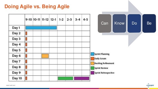 www.luxoft.com Doing Agile vs. Being Agile Can Know Do Be