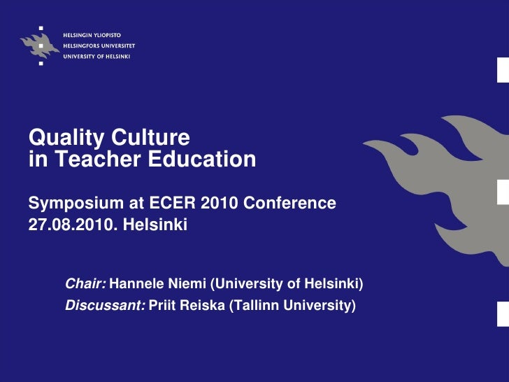 Quality Assurance in Teacher Education in Finland