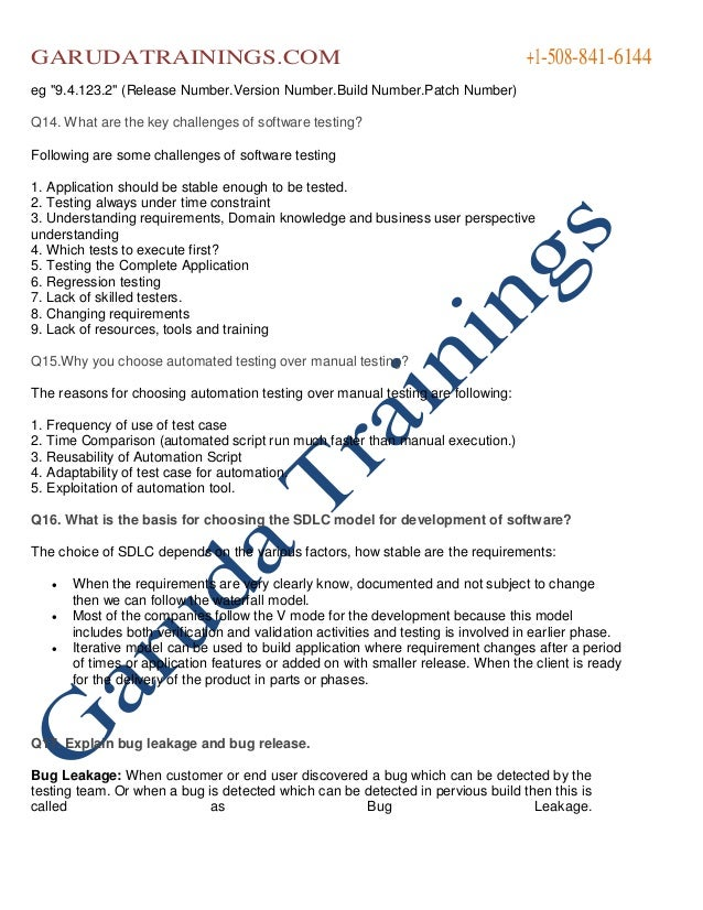 manual software testing interview questions and answers