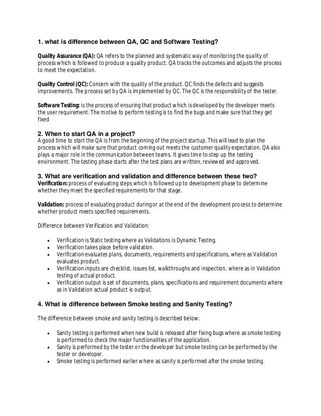 software testing february 5 quality analystmanual testing interview questions final revision 2 - Qa Interview Questions And Answers Quality Assurance Interview