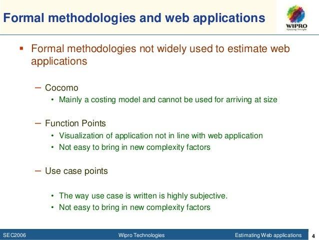 effort estimation for web applications