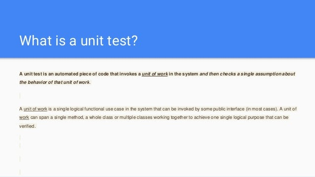 c tatesullivan unit test part 2 The hardest part about unit testing is starting unit testing ios in swift — part 2: a testable architecture the hardest part about unit testing is starting.