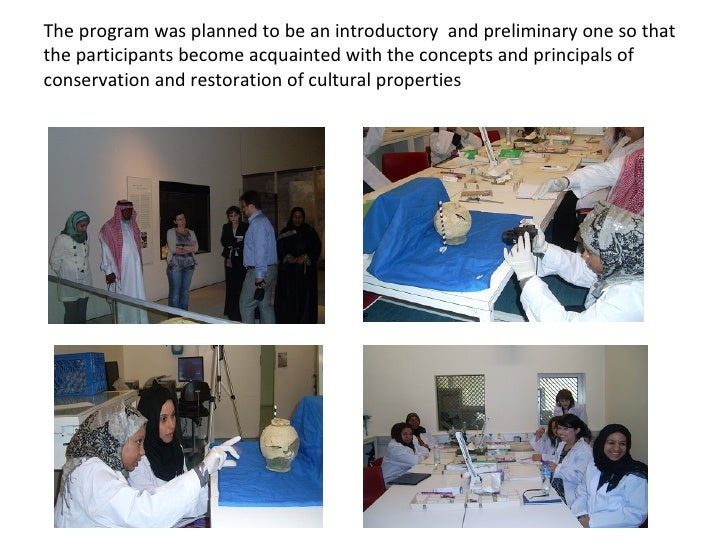 The program was planned to be an introductory  and preliminary one so that the participants become acquainted with the con...