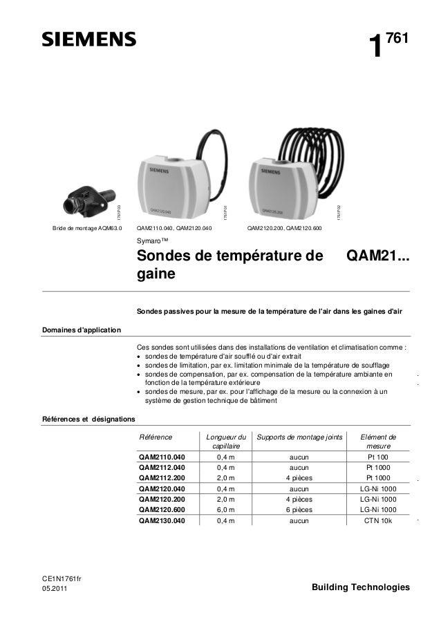 Bride de montage AQM63.0  QAM2110.040, QAM2120.040  1761P02  1761P01  1761P03  1  761  QAM2120.200, QAM2120.600  Symaro™  ...