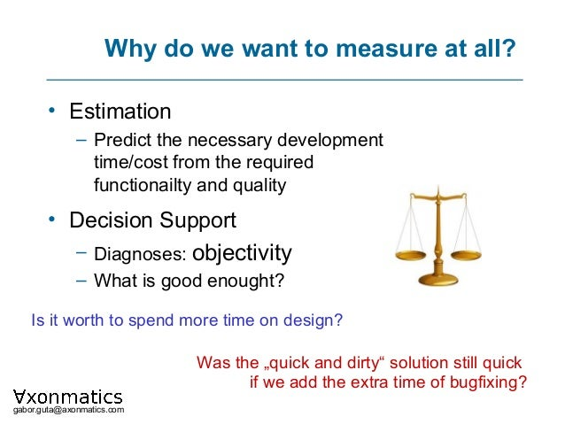 How can be the quality of a software product measured? Slide 2