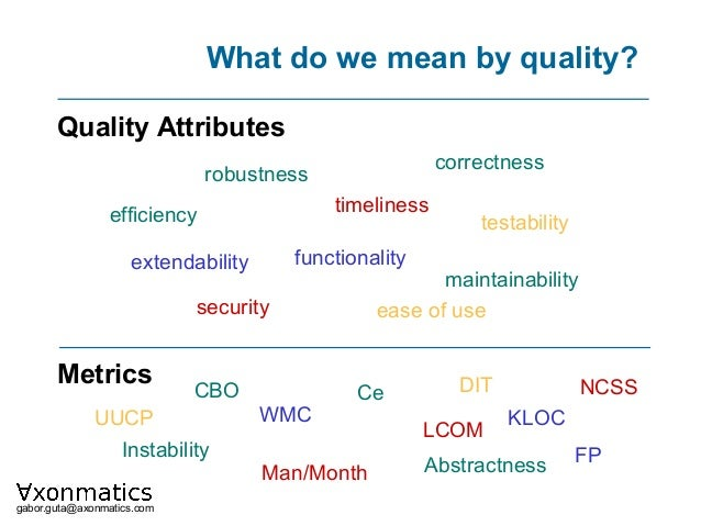 How can be the quality of a software product measured? Slide 3