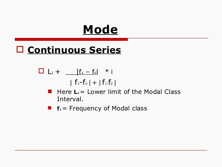 how to find lower limit of modal class