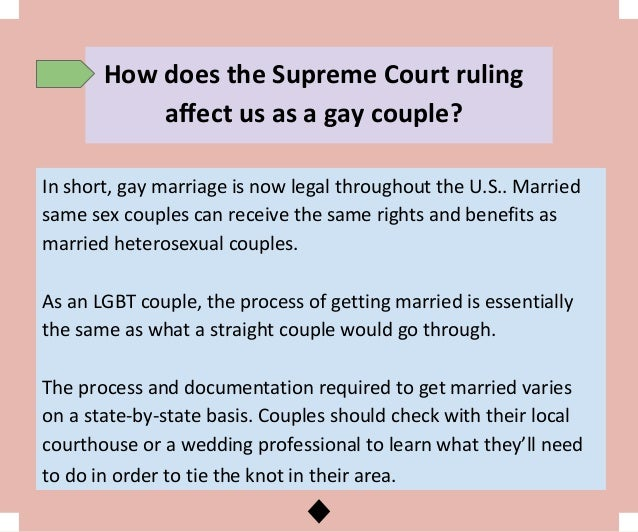 Expert Advice On Lgbt Weddings After Supreme Court Ruling