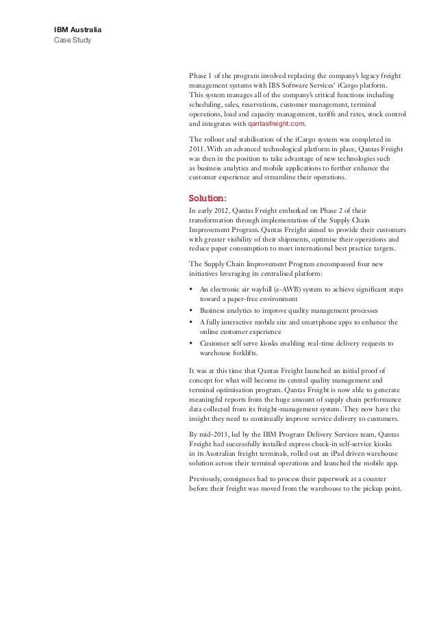 qantas case study booklet Case study - media watch newspapers (operations) (unknown, 265 hits) case  study - qantas (operations) (31 mib, 3,811 hits) case study.