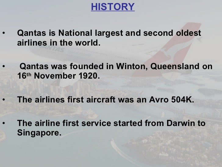qantas introduction From creating business class in the 1970s to introducing mobile technology to  transform the check-in process in recent years, qantas has always looked for.