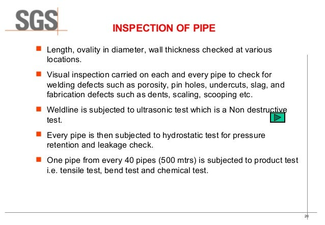 Quality control quality assurance of ms pipeline for Punch list procedure