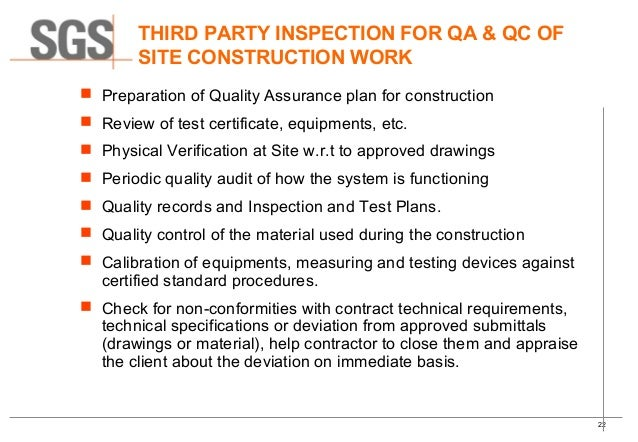Quality control quality assurance of ms pipeline for Quality assurance certificate template