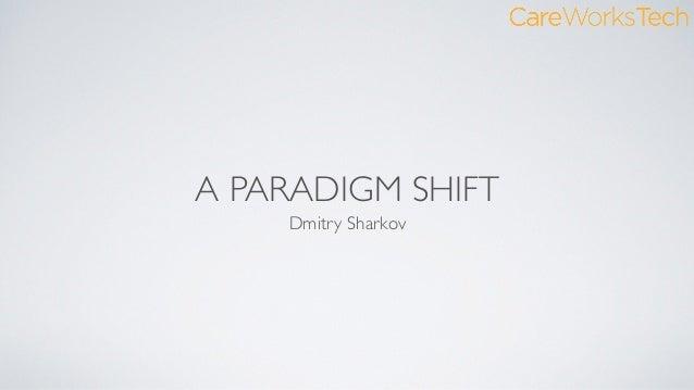 A PARADIGM SHIFT Dmitry Sharkov