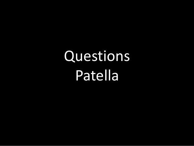 Questions Patella