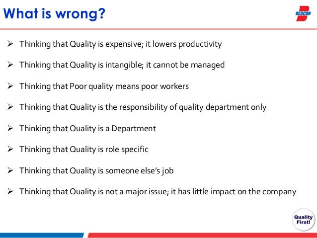 Quality Assurance and Quality Control Areas of Improvement – Quality Control Job Description