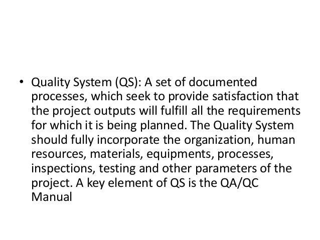 Qaqc In Civil Construction