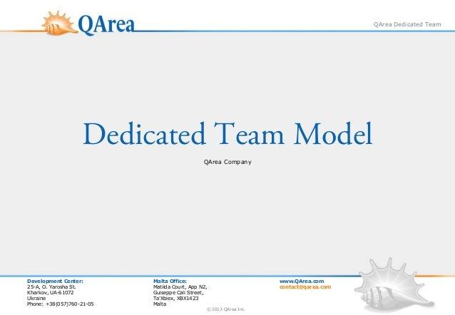 QArea Dedicated Team                   Dedicated Team Model                                               QArea CompanyDev...