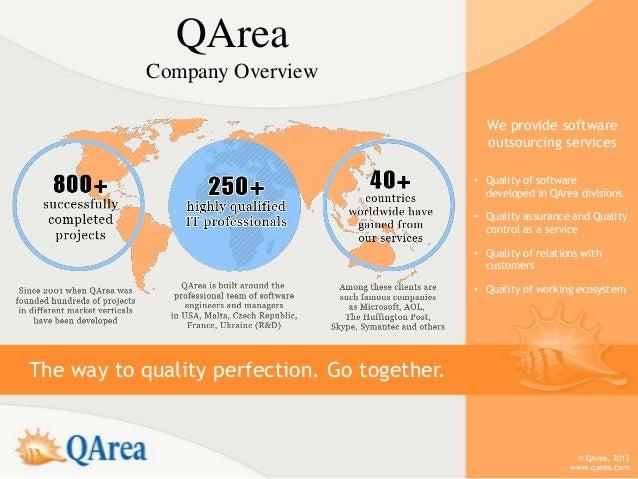QArea            Company Overview                                                We provide software                      ...
