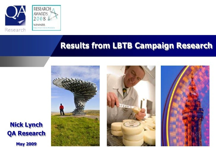 Results from LBTB Campaign Research      Nick Lynch QA Research   May 2009