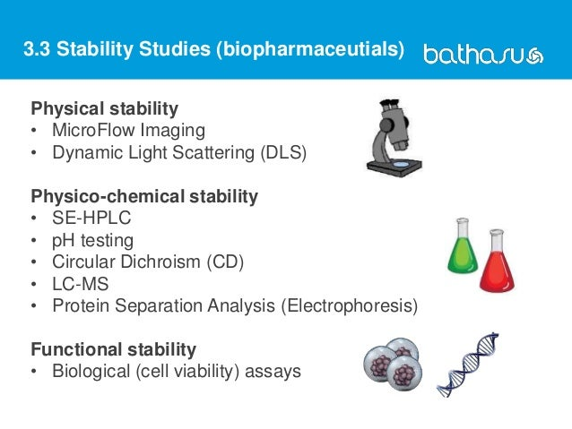 Physical stability • MicroFlow Imaging • Dynamic Light Scattering (DLS) Physico-chemical stability • SE-HPLC • pH testing ...