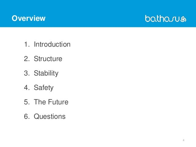 Overview 1. Introduction 2. Structure 3. Stability 4. Safety 5. The Future 6. Questions 4