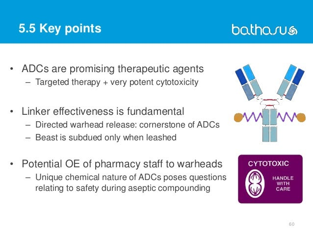 5.5 Key points • ADCs are promising therapeutic agents – Targeted therapy + very potent cytotoxicity • Linker effectivenes...
