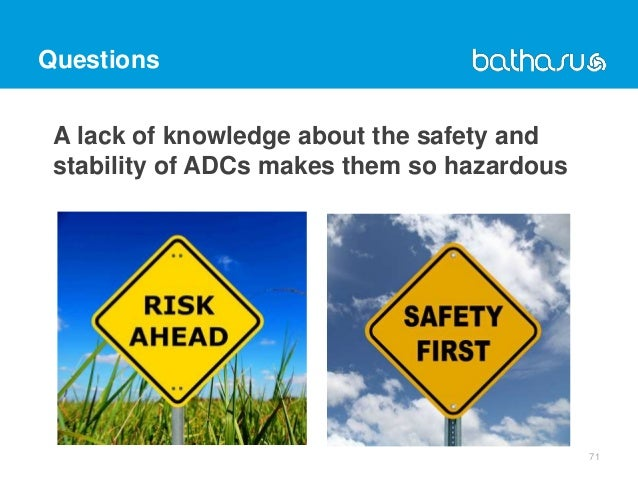 Questions A lack of knowledge about the safety and stability of ADCs makes them so hazardous 71