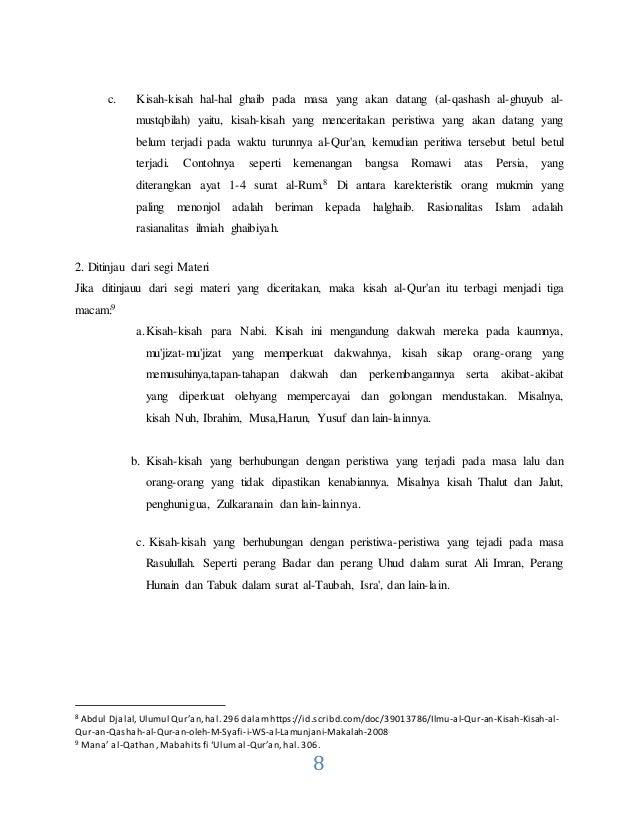 Makalah Qashash Al Qur An