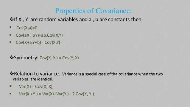 covariance in probability