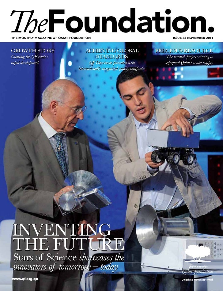 The monThly magazine of qaTar foundaTion                                                  issue 35 november 2011GROWTH STO...