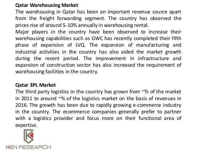 Qatar Logistics and Warehousing Market Outlook to 2021: Ken Research