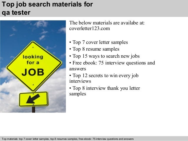 ... 5. Top Job Search Materials For Qa Tester ...