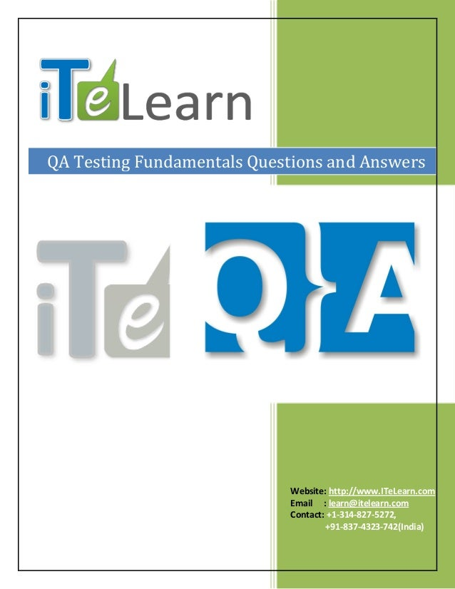 qa testing interview questions pdf