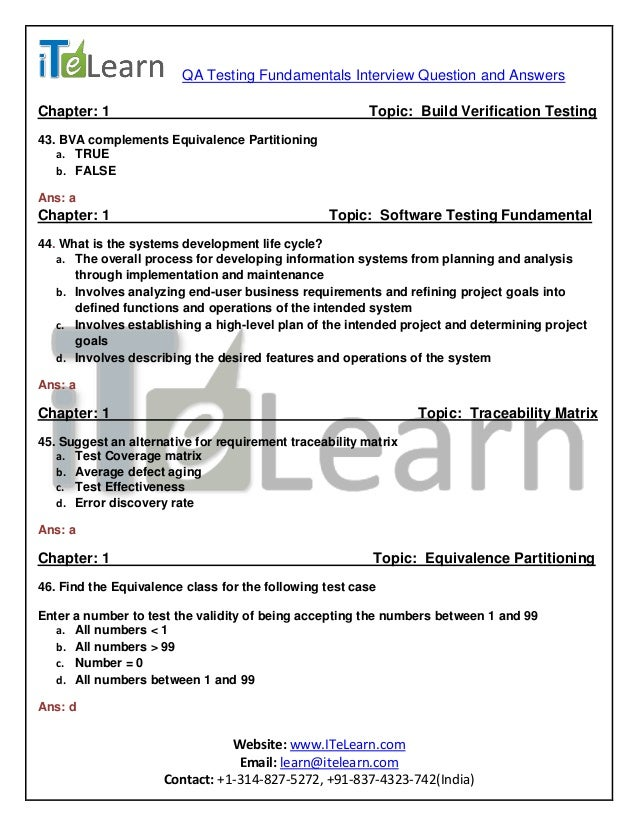 testing interview questions pdf and answers