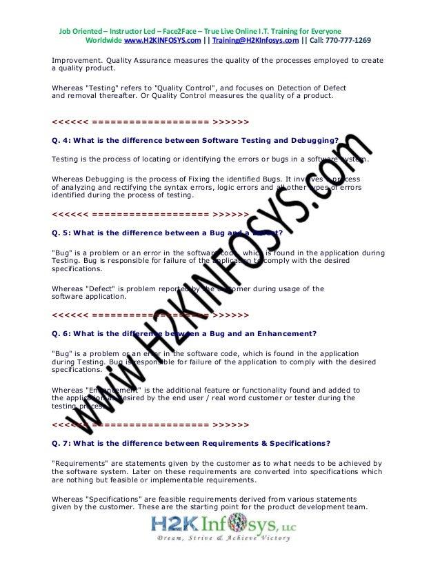 Latest QA Interview Questions | Top 100 QA Testing Interview