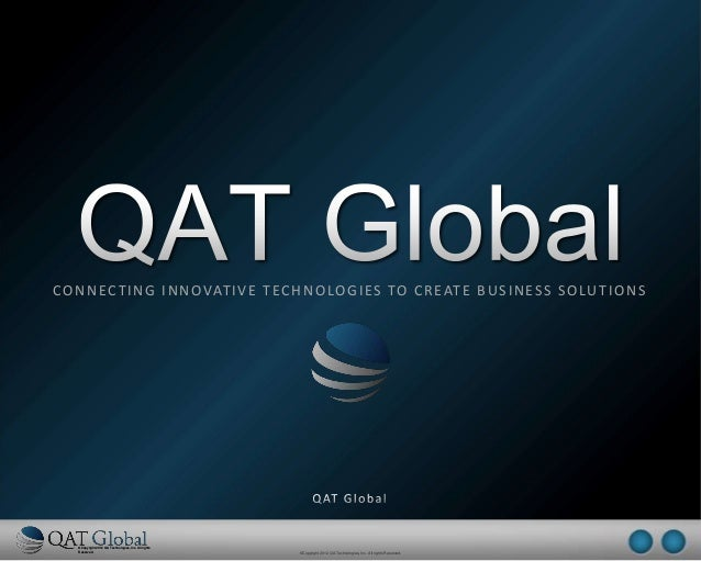 ©Copyright 2012 QA Technologies, Inc. All rightsReserved. ©Copyright 2012 QA Technologies, Inc. All rights Reserved.©Copyr...