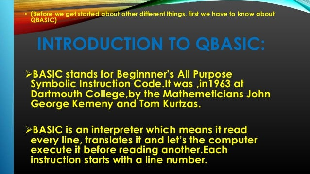 Learning Qbasic programming examples and exercises