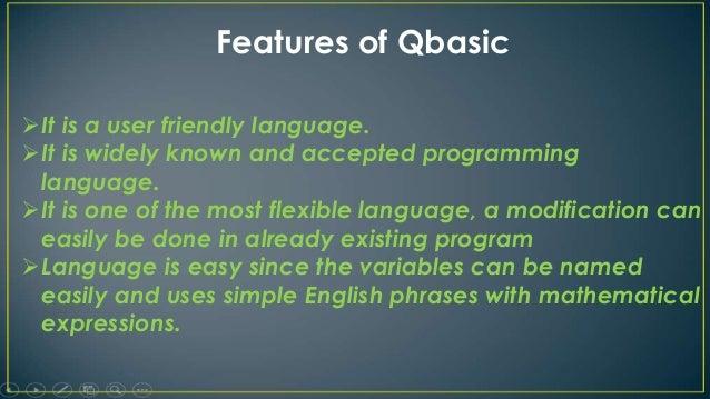 Qbasic program