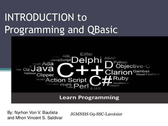 Introduction to Programming and QBasic Tutorial