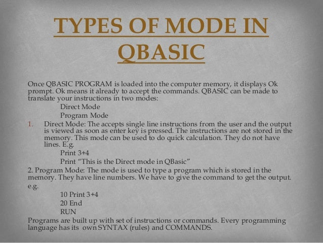 Qbasic tutorial 5 once qbasic program fandeluxe Image collections