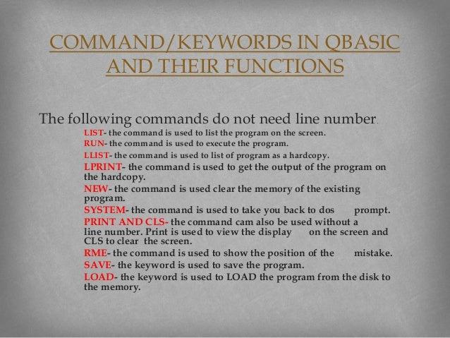 Qbasic tutorial