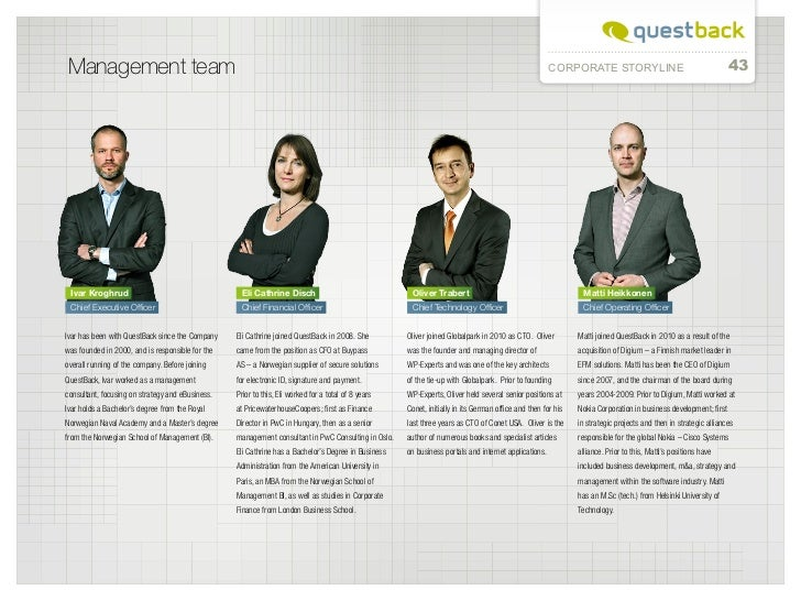 Management team                                                                                                           ...