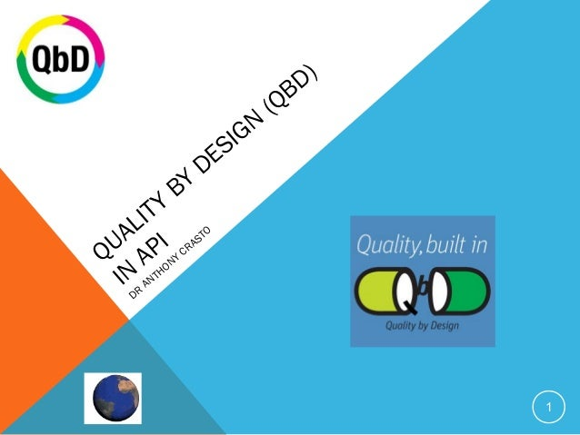 QUALITY BY DESIGN (QBD)  IN API  DR ANTHONY CRASTO  1