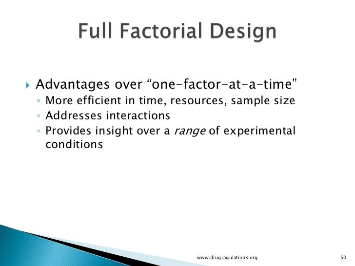 example of a single factor experiment A simple one-factor experiment might be formalized in example #1: theory:  defects are due to an unrecognized defect in the raw materials from one of our  three.