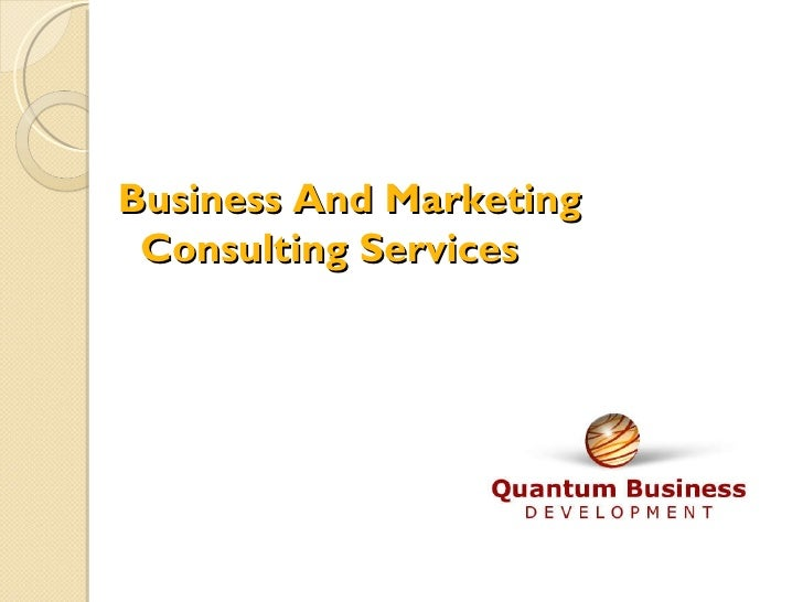 Business And Marketing Consulting Services