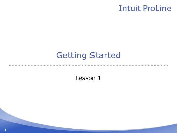 Getting Started        Lesson 11