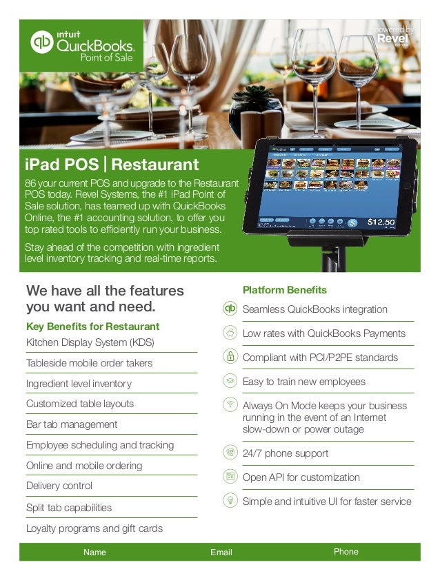 QuickBooks POS by Revel Systems