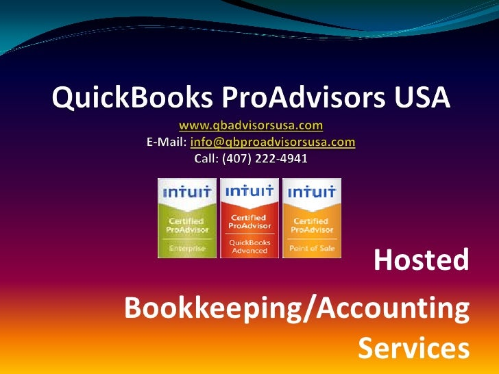 Hosted Bookkeeping/Accounting                Services